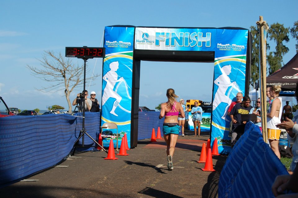 My prior PR at the North Shore Marathon on April 15, 2012.